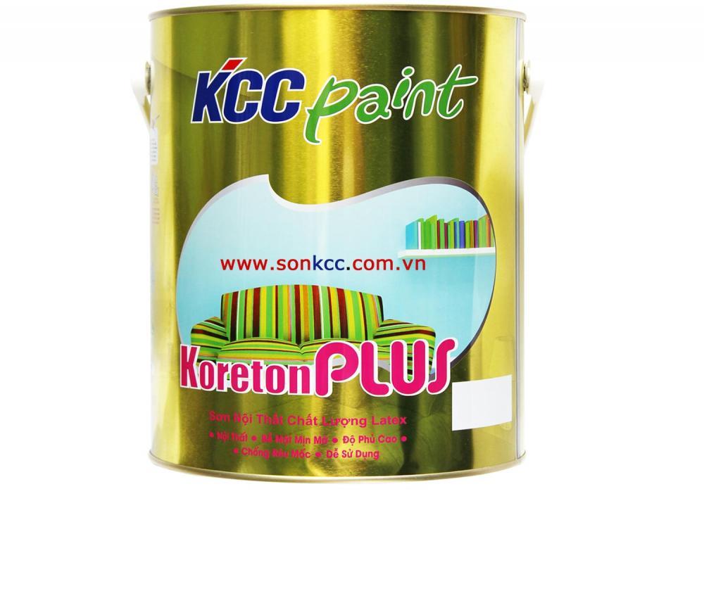 Sơn nước nội thất KCC Paint Koreton plus màu chuẩn - 18L
