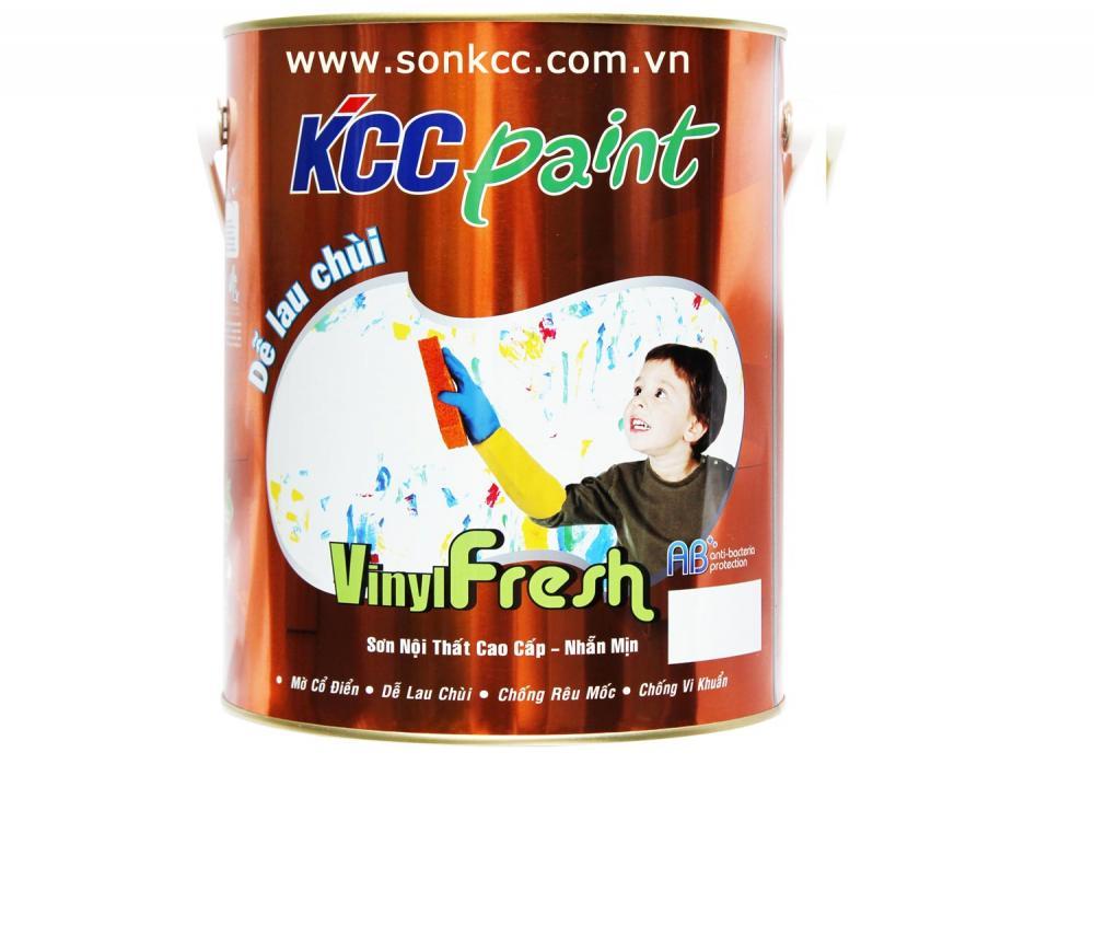Sơn nước nội thất KCC Paint Lau chùi,kháng khuẩn - Vinyl Fresh-...