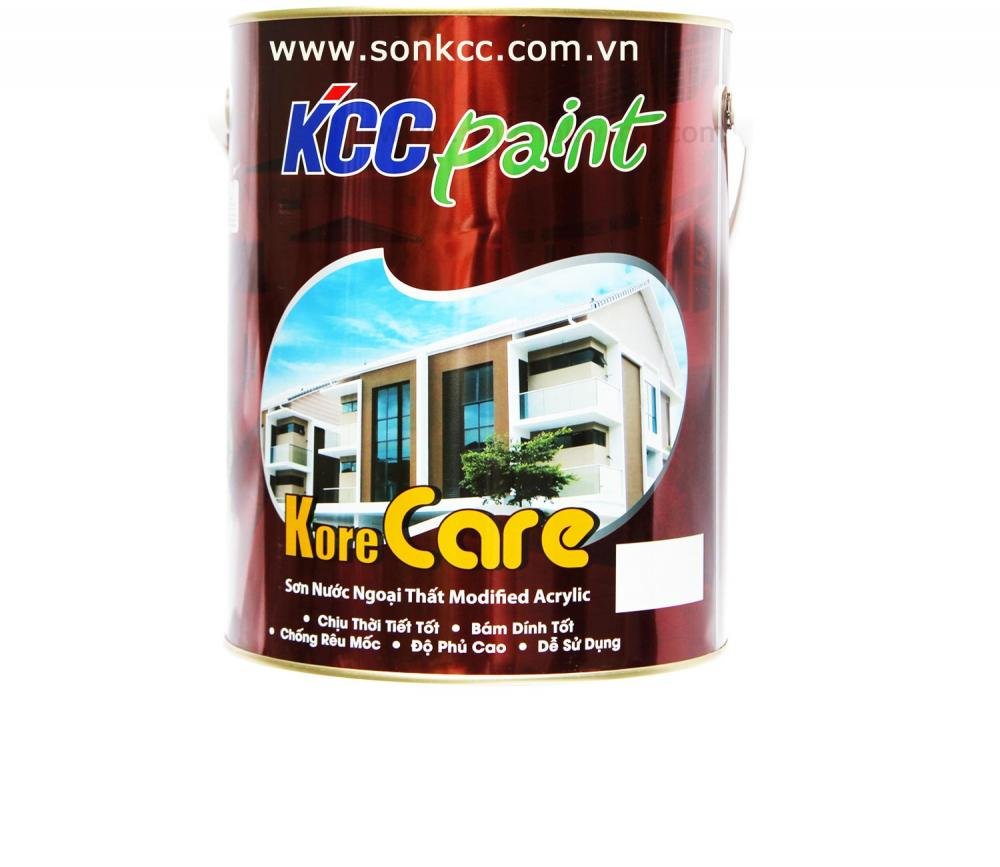Sơn nước ngoại thất KCC Acrylic biến tính mờ - Korecare 5L