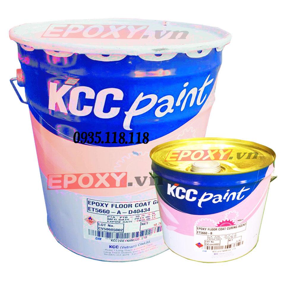 Sơn Epoxy KCC Chống Axit cho nền sàn bê tông ET5500 -16L